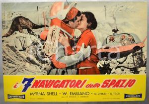 1962 I SETTE NAVIGATORI DELLO SPAZIO Myrna SHELL - Fotobusta 66x46 cm