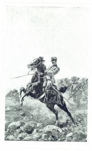 1915 ESERCITO ITALIANO Bersaglieri in azione *Cartolina postale ILLUSTRATA FP NV