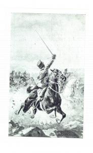 1915 ESERCITO ITALIANO Cavalleria in azione *Cartolina postale ILLUSTRATA FP NV