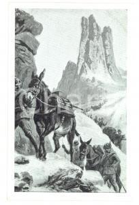 1915 ESERCITO ITALIANO Alpini in marcia *Cartolina postale ILLUSTRATA FP NV