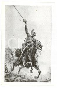 1915 ESERCITO ITALIANO Dragoni all'assalto *Cartolina postale ILLUSTRATA FP NV