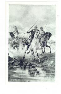 1915 ESERCITO ITALIANO Fanteria all'assalto *Cartolina postale ILLUSTRATA FP NV