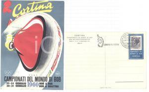 1960 F.I.S.I. CORTINA Campionati del mondo di BOB - Cartolina con timbro FDC FG