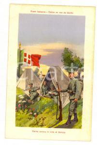 1915 ca WW1 FRONTE ITALIANO Calma in vista di Gorizia *Cartolina postale FP NV