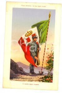 1915 ca WW1 FRONTE ITALIANO In questo segno vincerai - Bandiera *Cartolina FP NV