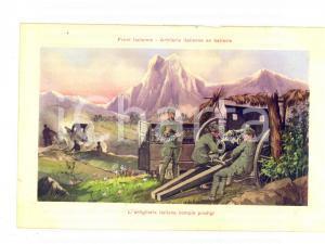 1915 ca WW1 FRONTE ITALIANO L'artiglieria italiana compie prodigi *Cartolina FP