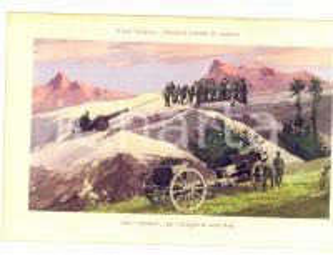 1915 ca WW1 FRONTE ITALIANO Cordata per l'artiglieria sulle Alpi *Cartolina FP