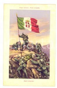 1915 ca WW1 FRONTE ITALIANO Aspra conquista della vetta *Cartolina postale FP NV