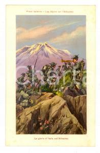 1915 ca WW1 FRONTE ITALIANO La gloria d'Italia sull'Altissimo *Cartolina FP NV