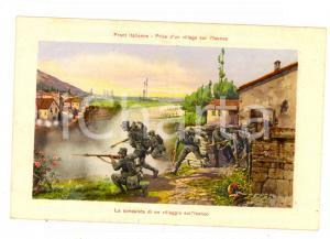 1915 ca WW1 FRONTE ITALIANO Conquista di un villaggio sull'Isonzo *Cartolina FP