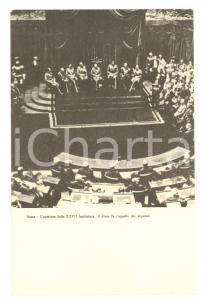 1924 ROMA Apertura della XXVII legislatura - Il Duce fa l'appello *Cartolina FP
