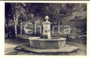 1930 ca VALGANNA Villaggio Alpino MONTE PIAMBELLO - La fontana *Cartolina