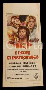 1972 I LEONI DI PIETROBURGO Mark DAMON Erna SCHURER Gary WILSON *Manifesto 32x70