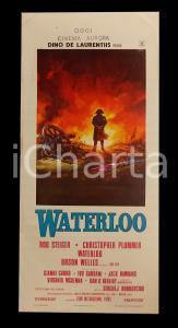 1970 WATERLOO Rod STEIGER Christopher PLUMMER Orson WELLES *Manifesto 32x70 cm