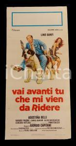 1982 VIENI AVANTI TU CHE MI VIEN DA RIDERE Lino BANFI *Manifesto 32x70 cm