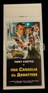 1979 UNA CANAGLIA DA ABBATTERE Tony CURTIS Michael WINCOTT *Manifesto 32x70 cm