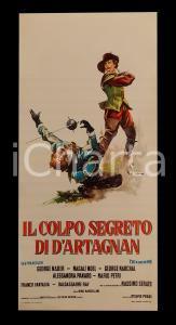 1962 IL COLPO SEGRETO DI D'ARTAGNAN George NADER Magali NOEL *Manifesto 32x70 cm