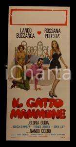 1975 IL GATTO MAMMONE Lando BUZZANCA Gloria GUIDA Nando CICERO *Manifesto 32x70