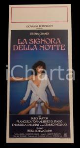 1986 LA SIGNORA DELLA NOTTE Serena GRANDI Fabio SARTOR *Manifesto EROTICO 32x70