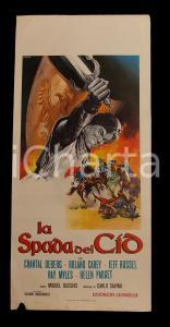 1962 LA SPADA DEL CID Chantal DEBERG Roland CAREY Luis INDUNI *Manifesto 32x70