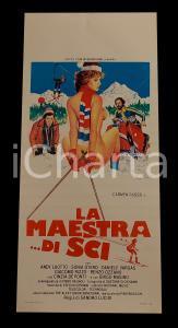 1981 LA MAESTRA DI SCI Carmen RUSSO Andy LUOTTO *Manifesto EROTICO 32x70 cm