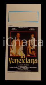 1986 LA VENEXIANA Laura ANTONELLI Monica GUERRITORE *Manifesto EROTICO 32x70