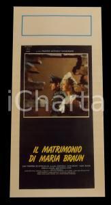 1979 IL MATRIMONIO DI MARIA BRAUN Rainer Werner FASSBINDER *Manifesto 32x70 cm