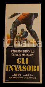 1961 GLI INVASORI Mario BAVA Cameron MITCHELL George ARDISSON *Manifesto 32x70