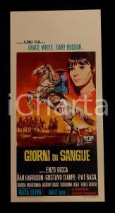 1968 GIORNI DI SANGUE Gianni GARKO Grace WHITE *Manifesto WESTERN 32x70 cm