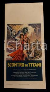 1981 SCONTRO DI TITANI Ray HARRYHAUSEN Laurence OLIVIER *Manifesto 32x70
