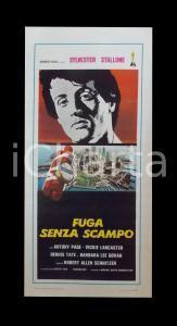1970 FUGA SENZA SCAMPO Sylvester STALLONE Tony PAGE Dennis TATE *Manifesto 32x70