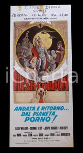 1974 FLESH GORDON Jason WILLIAMS Suzanne FIELDS *Manifesto EROTICO 30x68