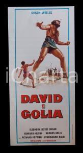 1960 DAVID E GOLIA Orson WELLES Ivica PAJER Eleonora ROSSI DRAGO Manifesto 32x70