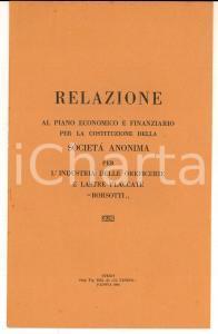 1926 PADOVA Società Anonima Oreficerie BORSOTTI - Relazione al piano economico