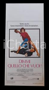 1980 DIMMI QUELLO CHE VUOI Sidney LUMET Alan KING Ali MACGRAW Manifesto 32x70 cm