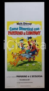 1974 COME DIVERTIRSI CON PAPERINO E COMPANY Walt DISNEY *Manifesto 32x70 cm