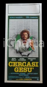 1982 CERCASI GESU' Beppe GRILLO Maria SCHNEIDER Luigi COMENCINI *Manifesto 32x70