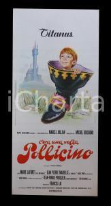 1972 C'ERA UNA VOLTA POLLICINO Marie LAFORET Jean-Luc BIDEAU *Manifesto 32x70 cm