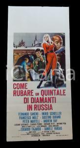 1967 COME RUBARE UN QUINTALE DI DIAMANTI IN RUSSIA Andrew RAY Manifesto 32x70 cm