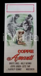 1968 COPPIE AMANTI Jens ØSTERHOLM Birgit BRUEL Willy RATHNOV *Manifesto 32x70 cm