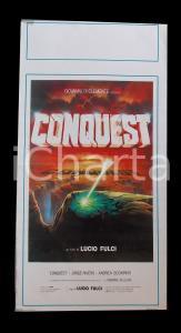 1983 CONQUEST Lucio FULCI Jorge RIVERO Andrea OCCHIPINTI *Manifesto 32x67 cm