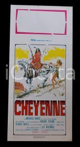 1975 CHEYENNE Leif ERICKSON Woody STRODE Denver PILE *Manifesto WESTERN 32x70 cm