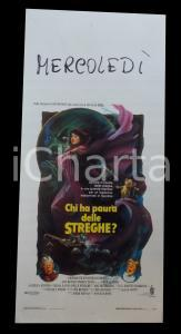 1990 CHI HA PAURA DELLE STREGHE? Jim HENSON Anjelica HUSTON *Manifesto 32x70 cm