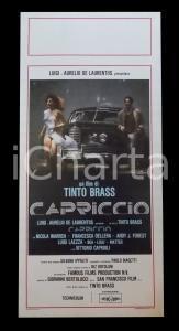 1987 CAPRICCIO Tinto BRASS Francesca DELLERA  *Manifesto EROTICA 32x70 cm