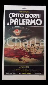 1984 CENTO GIORNI A PALERMO Lino VENTURA Giuliana DE SIO *Manifesto 32x56 cm