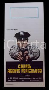 1978 CARREL AGENTE PERICOLOSO Don MURRAY James Earl JONES *Manifesto 32x70 cm