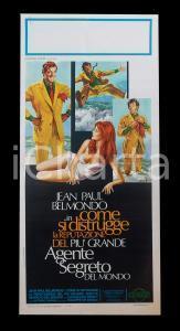 1973 IL PIU' GRANDE AGENTE SEGRETO DEL MONDO Jean Paul BELMONDO *Manifesto 32x70