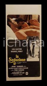 1973 LA SEDUZIONE Maurice RONET Lisa GASTONI Fernando DI LEO *Manifesto 32x70