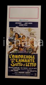 1981 L'ONOREVOLE CON L'AMANTE SOTTO IL LETTO Lino BANFI Alvaro VITALI Manifesto