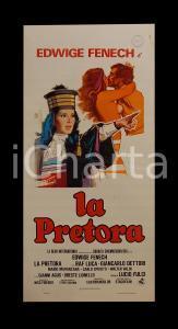 1976 LA PRETORA Edwige FENECH Lucio FULCI Raf LUCA *Manifesto EROTICO 32x70 cm